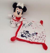 Doudou Minnie Mouchoir Blanc Rouge Minnie chat Perfect Friends Disney NEUF