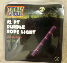 NEW- 4 Boxes of Purple Halloween Rope Lights 'Totally Ghoul' 48' Feet- UL Listed