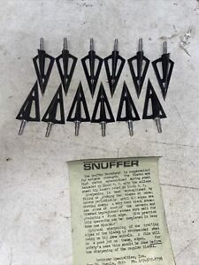 used lot of 12 snuffer vintage traditional archery broadheads