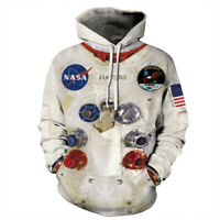 NASA Astronaut Apollo Hoodie 3D Printed Sweater Lovers Long Sleeve Top Pullover