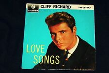 CLIFF RICHARD EP 'LOVE SONGS' 1963 COLUMBIA SEG 8272 '' ORIGINAL ''