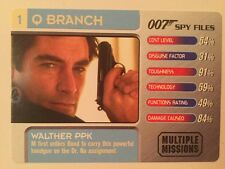 Walther PPK #1 Q Branch - 007 James Bond Spy Files Card