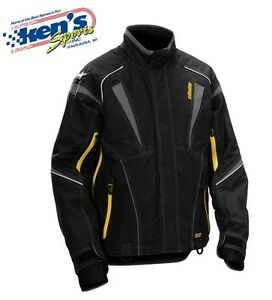 CASTLE X™ Men's Gray/Yellow BACKCOUNTRY SCOUT Winter Snowmobile Jacket 70-396_