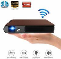 LED 3600LUMEN Tragbar Mini 3D WIFI Heimkino Beamer 1080p DLP Videospiel HDMI USB