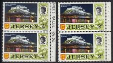Great Britian Jersey QEII Mont Orgueil By Night Stamps 2p & 4d Pairs MNH