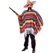 MENS ADULT MEXICAN PONCHO COWBOY FANCY DRESS COSTUME OUTFIT HALLOWEEN STAG