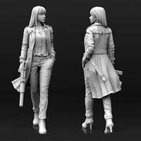 1/35(50mm) Agent Aida Female Gunner Resin Lady Soldier Unpainted S4O9