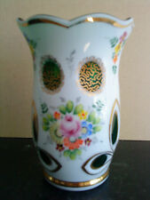 Antique czech moser bohemian art cut vert overlay vase