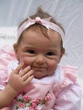 "22"" Handmade Lifelike Baby Girls Doll Silicone Vinyl Reborn Baby Newborn + Dress"