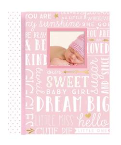 Memory Book Keepsake For Baby Girl Shower Record Photo Book Journal Pink Album