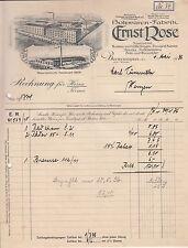 Litho Rechnung Ernst Rose Holzwaren - Fabrik Beverungen 1936 ! (D2
