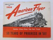 AMERICAN FLYER D1578 1950 ADVANCE CATALOG w/PRICE LIST-VERY NICE!  FREE SHIP!