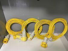 Defender E884270 110v 14m x 4 Extension Lead Trailing Lead Yellow JOB LOT