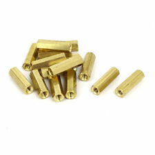 M4 Male Thread 20mm Height Metal Double Pass Hex Column Standoff Spacers 15pcs