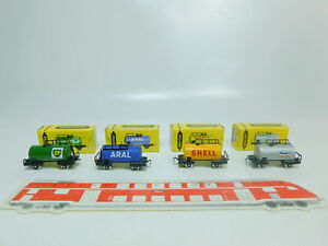 BP376-0,5# 4x Trix/ Schiebetrix Kesselwagen 833 Shell+834+835+838 Neuauflage OVP