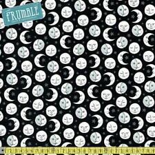 Robert Kaufman Fabric Daydreamer Moon Black HALF METRE