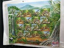 1995 Malaysia WWF Animals Clouded Leopard 16v Stamps Sheetlet Mint