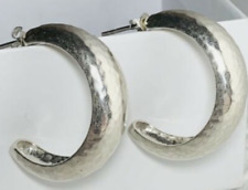 Hoop Post Earrings P1669 Silpada Sterling Silver Half
