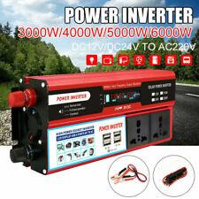 3000W Solar Power Inverter DC 12V to AC 220V Car Sine W-ave Converter 4USB S1A0