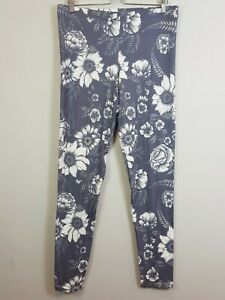 [ THREADLESS ] Womens Floral Leggings Pants - Made in Usa | XL or AU 16 / US 12