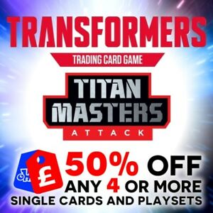 TRANSFORMERS TCG WAVE 5 CHARACTER CARDS TITAN MASTERS ATTACK HOLO FOIL BRAND NEW