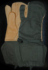 Military/Army Trigger Finger Mittens/Gloves Olive Green Genuine M-1965
