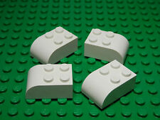 LEGO LEGOS  -  Set of 4  NEW Modified  Brick  2 x 3 with Curved Top  WHITE
