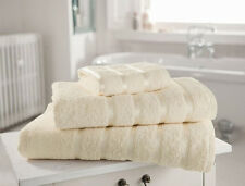 PACK OF 2 CREAM BATH TOWELS IN 100% EGYPTIAN COTTON LUXURY & SOFT FREE POSTAGE