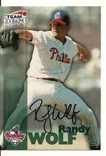 RANDY WOLF READING PHILLIES SIGNED AUTO 1999 TEAM BEST CARD W/COA