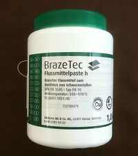 Silver solder flux Brazetec h paste, ultimate high-quality flux 1 kilogram