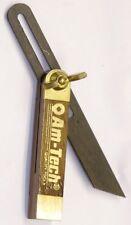 MINI Legno Duro scorrevole regolabile angolo di smusso Calibro QUADRATO 70mm inserti in ottone