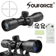 Compact Detachable 4X32 Mil-Dot Rifle Scope&20mm rail mounts for Rifle Hunting