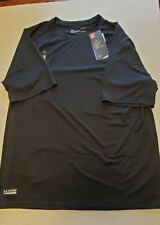 New Large Under Armour Shirt Tactical Heat Gear Solid Black
