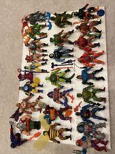 Huge Lot MOTU He-man Skeletor Lynn Telia Fisto Jitsu 26 Figures Lot Weapons