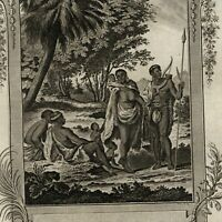 Africa ethnic Hottentot racist men women children 1778 old engraved print