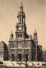 PARIS et ses merveilles. L'eglise de la Trinite FRANCE Vintage Postcard (P3)