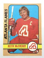 1972-73 Keith McCreary Atlanta Flames 25 OPC O-Pee-Chee Hockey Card N934