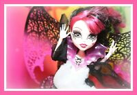 ❤️Monster High Draculaura Ghouls Rule Doll Wings Outfit Dress Shoes Vampire❤️