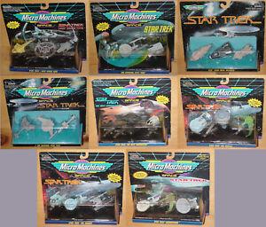STAR TREK MICRO MACHINES 3 PACKS CHOOSE TOS TNG MOVIES DS9 VOYAGER GENERATIONS