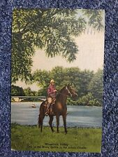 1953 Horseback Riding One of the many Sports in Scenic Ozarks Postcard