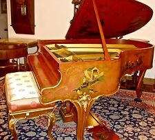 """Extraordinary Steinway 5'11"""" O Model Piano with Chinoiserie Art Case"""
