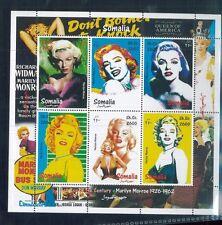 MARLYN MONROE Souvenir Sheet MNH (Unauthorized) 1999 Somalia - E11