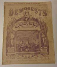 Demorest's Monthly Magazine, October 1866: Victorian life, fashion, ads