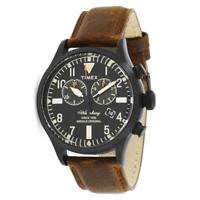 Reloj TIMEX mod. WATERBURY ref. TW2P64800 hombre chrono fecha en cuero marrón