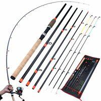 Feeder Fishing Rod Carbon Fiber Travel Pole Bait Long Casting Ultra Light Tackle