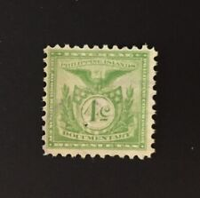 PHILIPPINE Islands Revenue - 4 cents Lt Green Documentary Tax, perf 11, used PI