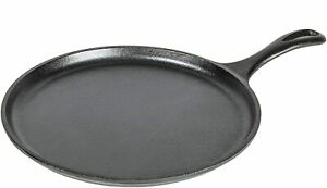 """Lodge Cast Iron 10.5"""" Round Griddle Pizza Pan Induction Baking Tray BBQ Dosa"""