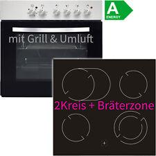Edelstahl Umluft Einbauherd-Set Einbau Ceran Kochfeld Einbau Herdset Grill EEK:A