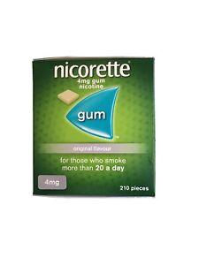 nicorette gum 4mg original 210. Expiry 02/22