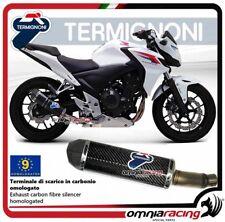 Termignoni Pot D'Echappement carbon Honda CB500F/CBR500RR 13>15